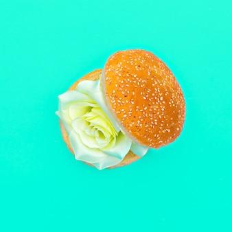 Розы гамбургер сюрреалистическое искусство моды