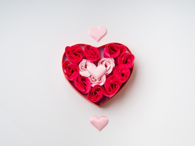 Roses and hearts. valentine's day