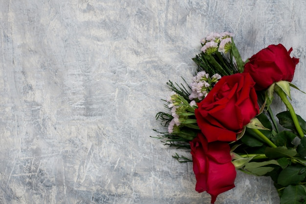 Roses on marble table