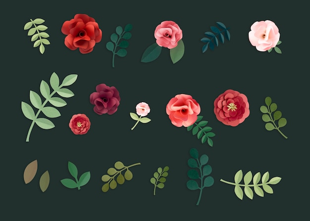 Roses paper craft handmade collection