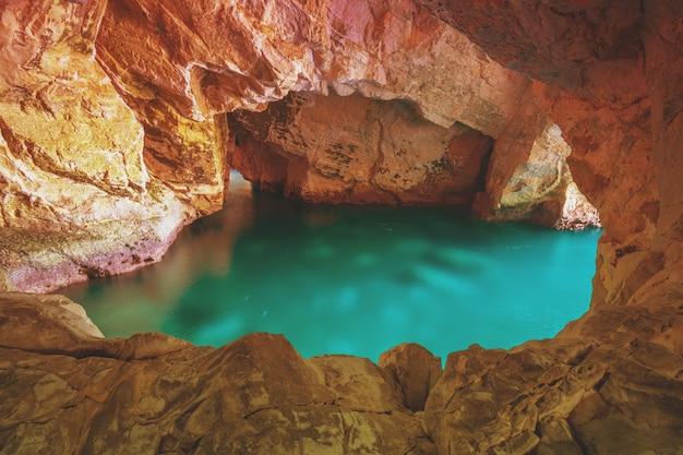 Rosh hanikra grottoes. beautiful nature of israel