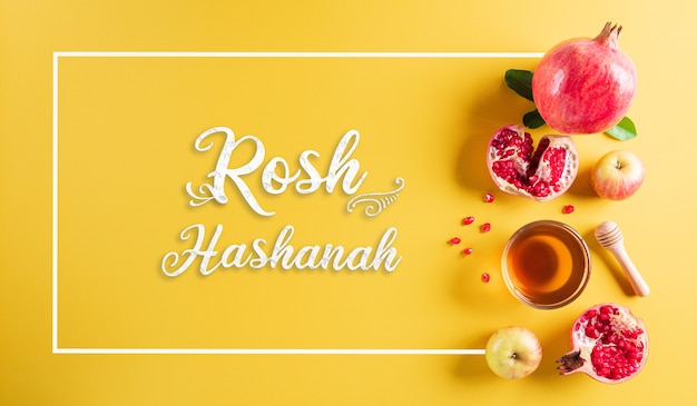 Rosh hashanah, concept of traditional or religion symbols