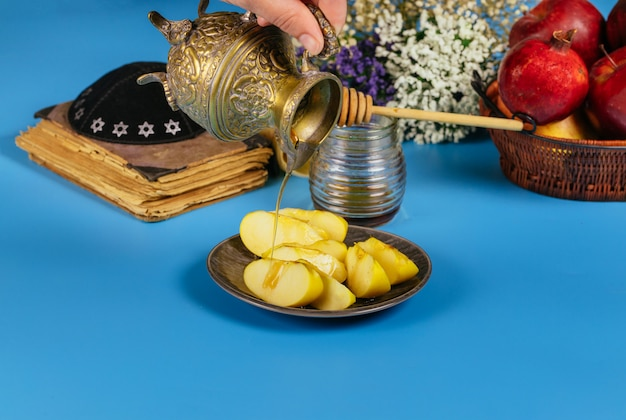 Rosh hashanah jewish new year holiday concept. selective soft focus