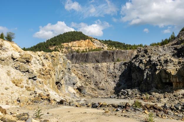 Rosia montana open pit copper and gold mine, quarry in transylvania, romania