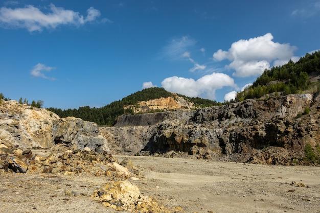 Rosia montana open pit gold mine quarry in romania
