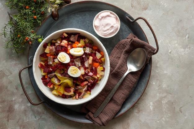 Rosolli, rosolje, heringsalat - финский салат из свеклы