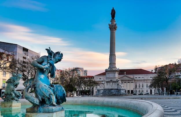 ポルトガル、リスボンのロッシオ広場