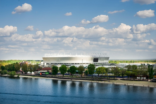 Ростов-на-дону, россия. футбольный стадион ростов арена день