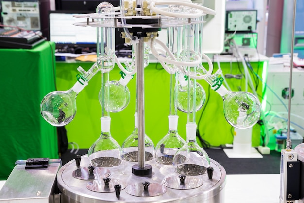 A rotary evaporator  in chemical laboratory