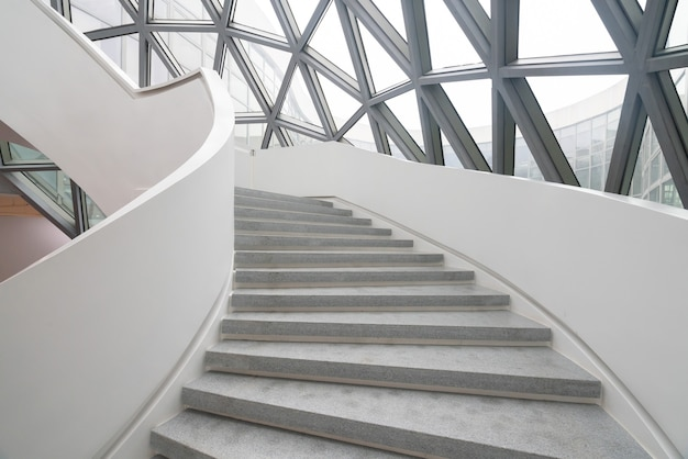 The rotating staircase of the art museum, a contemporary art museum