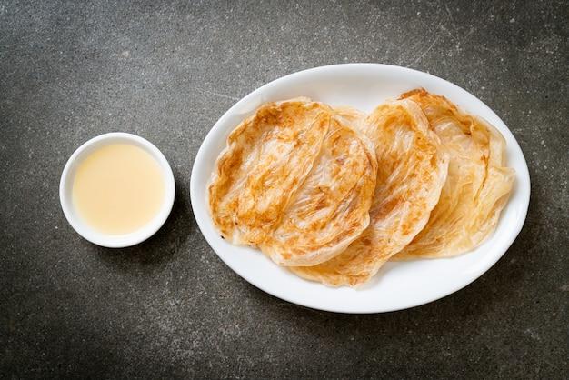 Roti with sweetened condensed milk