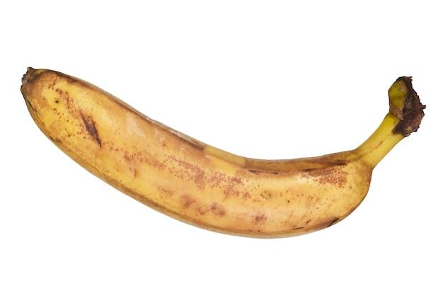 クリッピングパスで白に分離された腐ったバナナ