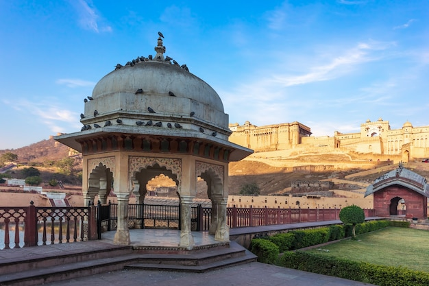 Rotunda in the territory of amber fort, amer, jaipur, india.