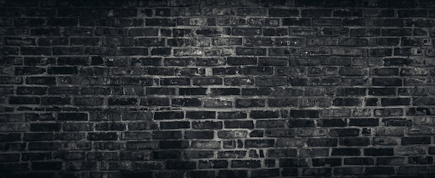 Rough black brick wall texture background