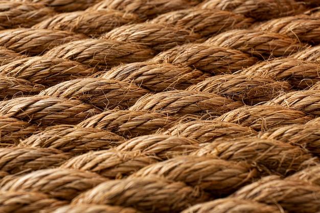 Composizione della trama della corda ruvida