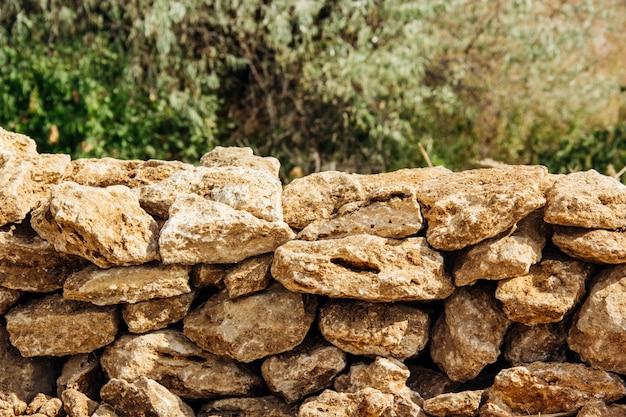 Rough shell rock wall