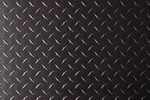 Rough steel texture with corrugated pattern. dark metal background.