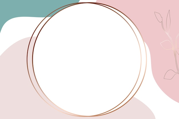 Round abstract logo background illustration of with pastel colors background