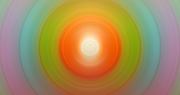 Round abstract stylish orange and green background for design