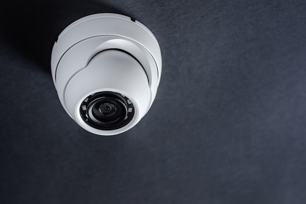 Round cctv camera. security system.
