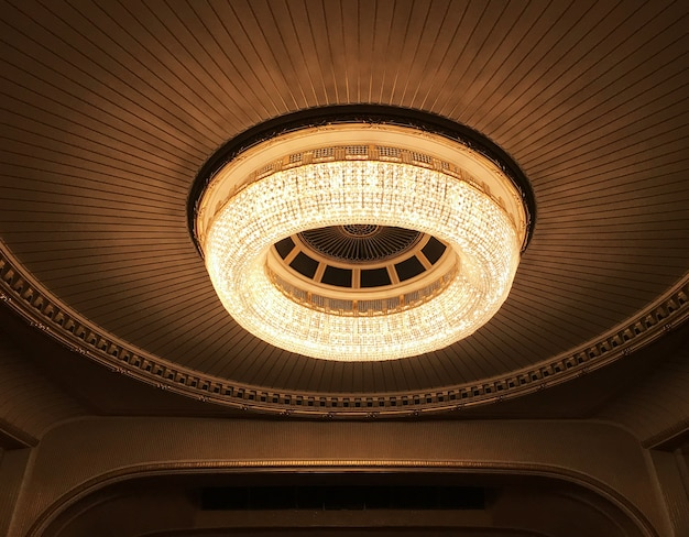 Round chandelier in the opera house