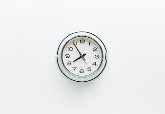 Round clock watch on white background