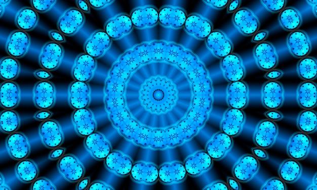丸い点の図。円とのシームレスなパターン。抽象的な青い背景。図。モダンなスタイルの背景ディスプレイ、ウェブサイト、チラシ、パンフレット、プレゼンテーションに最適です。