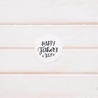 Carta di giorno di padri rotondo
