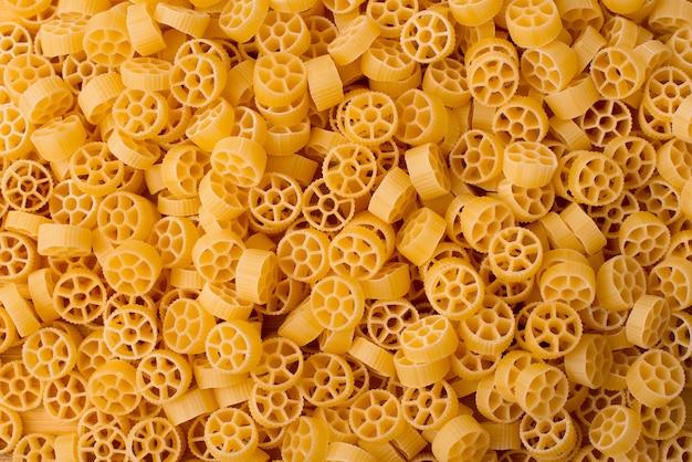 Round italian pasta background, bio food.