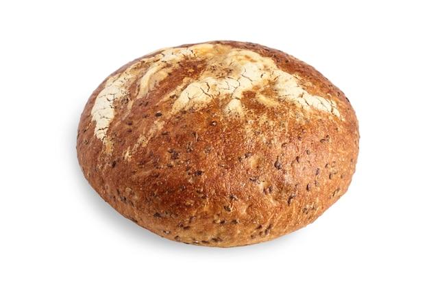 아마씨를 뿌린 둥근 빵 덩어리