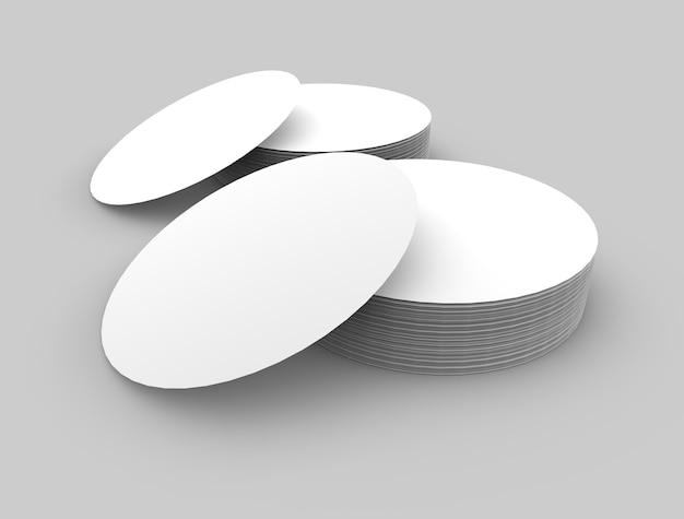 라운드 로고 및 라벨 모형