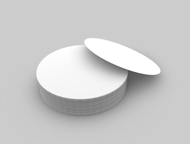Round logo and label mockup