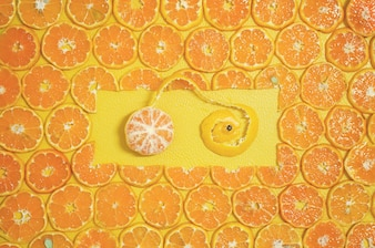 Round Orange Slices Fruit 2017 xmas