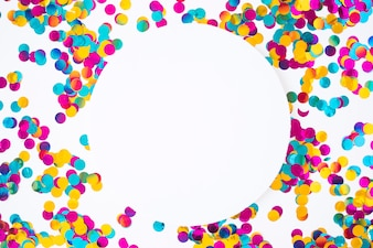 Round paper with scattered spangles