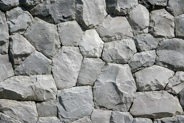 Round  & pentagon black stone pattern background & wallpaper