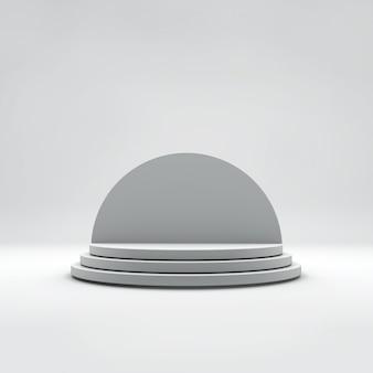 Round podium or pedestal.