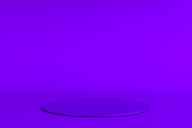 Round purple stage podium concept illustration isolated on purple background