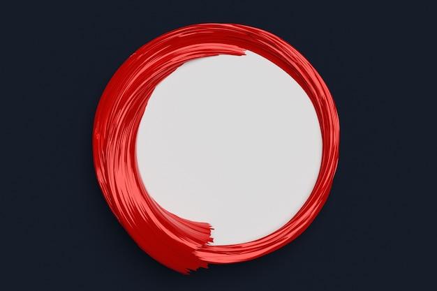 검은 단색에 체적 프레임이있는 둥근 빨간색 mocap