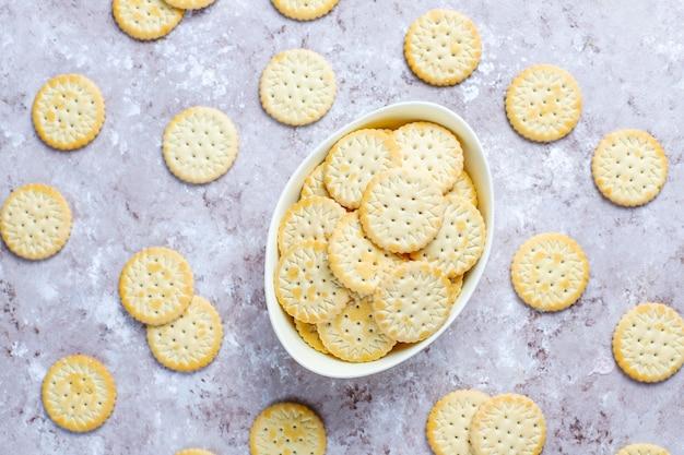 Печенье крекер круглое соленое, закуска.