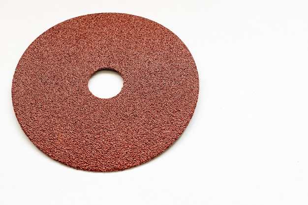 Round sandpaper with white surface