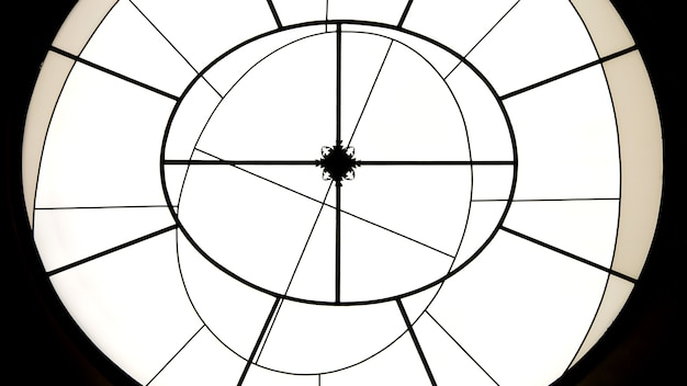 Round shaped geometric minimalistic background