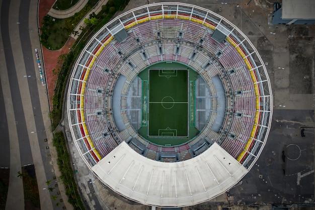 ラウンドスポーツスタジアムの上面図。