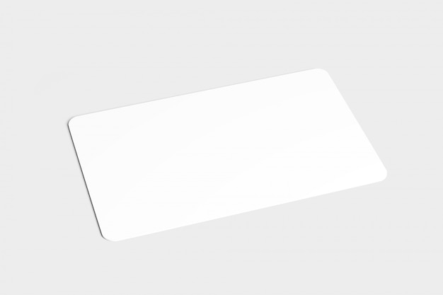 Rounded corner card, 3d rendering