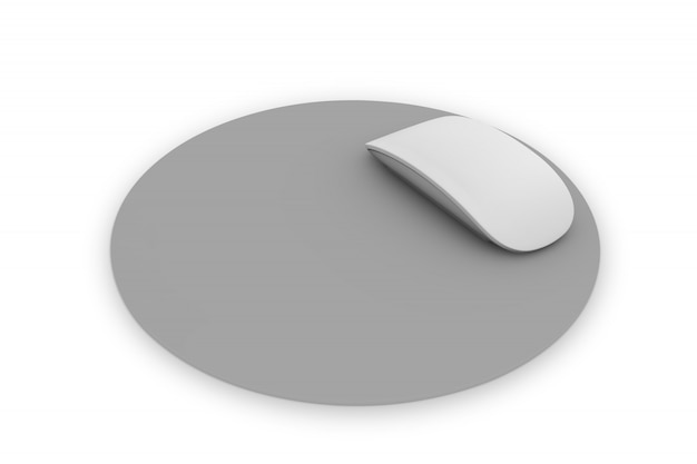 Rounded mousepad