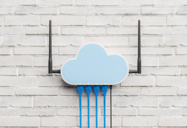 Router in cloud computing concept