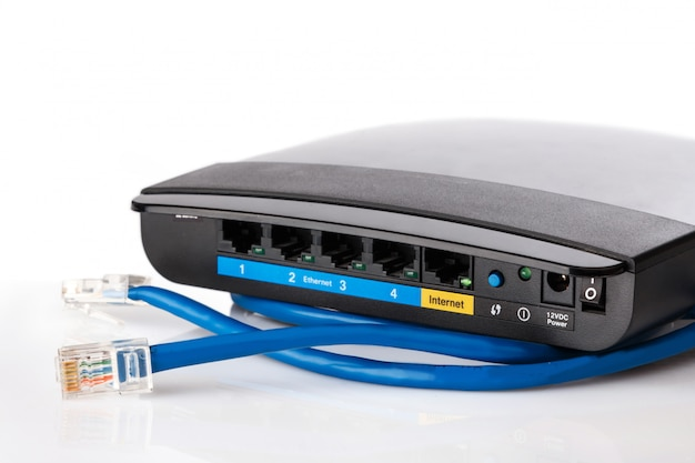Router and ethernet cable