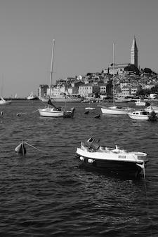 크로아티아 바다 해안 rovinj 여름 시간
