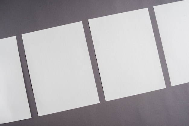 Row of blank white sheet