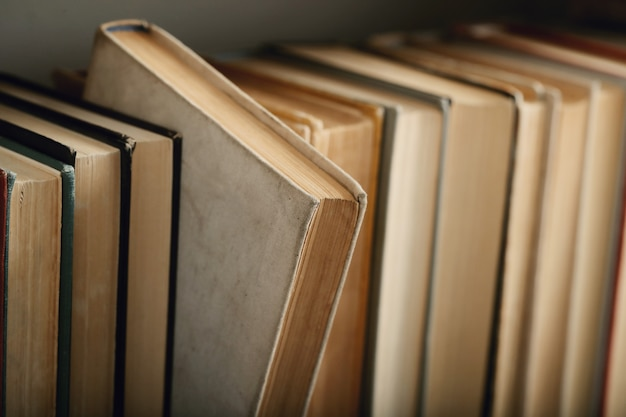Row of books, literature concept