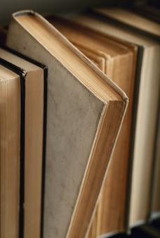 Fila di libri, concetto di letteratura